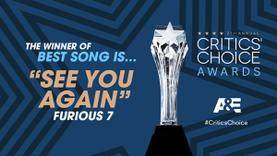 See You Again จาก Wiz Khalifa และ Charlie Puth คว้ารางวัลจาก Critics Choice Awards 2016