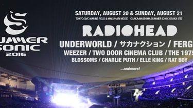 ปล่อยของ! Radiohead นำทัพศิลปินร่วมงานเทศกาลดนตรีนานาชาติ Summer Sonic 2016