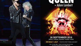 สุดยอดวงร็อคระดับตำนาน!!! Queen จับมือ อดัม แลมเบิร์ต ประกาศทัวร์คอนเสิร์ตที่ประเทศไทย ใน