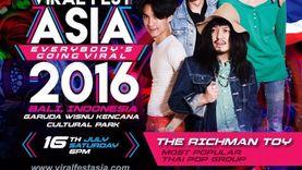 60MILES - THE RICHMAN TOY พร้อม 27 ศิลปินเอเชียขึ้นเวที VIRAL FEST ASIA 2016 เทศกาลดนตรีดิ
