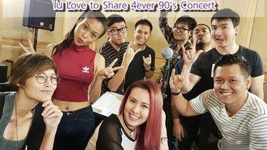 (คลิป) 3 สาว จีน พัดชา เพชร อุ่นเครื่องเข้าห้องซ้อม Love to Share 4ever 90's Concert