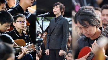 ปุ๊ อัญชลี นำขับร้อง ศิลปิน มิวซิกมูฟ ร่วมบรรเลงเพลงพระราชนิพนธ์ สายฝน ใน Guitar Phenomenon for Dad