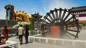 เที่ยว หมู่บ้านมังกรสวรรค์ ยกเมืองจีนโบราณมาเป็นที่เที่ยวใหม่ในสุพรรณ