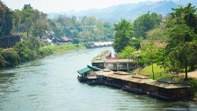 คลายร้อน ล่องแพเปียก เที่ยวเมืองกาญจนบุรี  นอนแพชิลล์ริมน้ำที่ บ้านริมแคว แพริมน้ำ