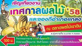 งานเทศกาลผลไม้ และของดีอำเภอแกลง จ.ระยอง วันที่ 27- 31 พฤษภาคม 2558