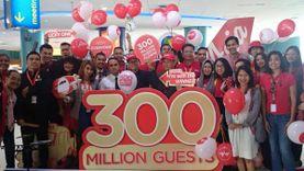 แอร์เอเชีย ฉลองผู้โดยสารคนที่ 300 ล้าน กับตั๋วราคาพิเศษ เริ่มต้น 300 บาท!