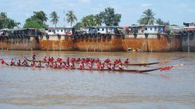 นมัสการปิดทองประจำปี หลวงพ่อโต วัดป่าโมกวรวิหาร และชมการแข่งขันเรือยาวประเพณี อ่างทอง