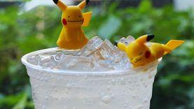 ตุ๊กตาเกาะแก้วพิคาชู แท้จากญี่ปุ่น โปเกม่อนเทรนเนอร์อย่าได้พลาด ที่ ทรู คอฟฟี่