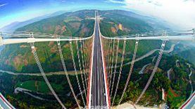 สะพานเหนือฟ้า เชื่อมเมียนมาร์สู่ยูนนาน สะพานหลงเจียน ขึ้นทำเนียบสะพานแขวนยาวที่สุดของเอเชีย