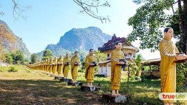 เที่ยวด่านเจดีย์สามองค์ กาญจนบุรี ชิลล์ขับรถเที่ยวพม่า ไหว้พระวัดเสาร้อยต้น เมืองพญาตองซู