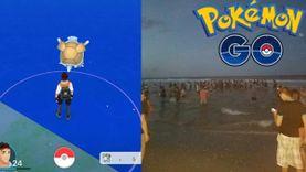 อยากเล่นน้ำขึ้นมาเลย! เมื่อ Pokemon เซนิกาเมะ ร่างอีโวโผล่กลางทะเล เทรนเนอร์ก็เปียกสิครับ