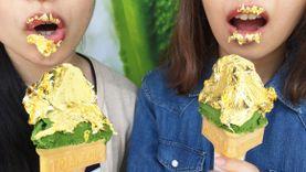 ของกินใหม่ ไอศครีมมัทฉะ เลี่ยมทอง ของดีเมือง ชิซูโอกะ