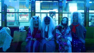 เที่ยวรถไฟผีสิง Randen Keifuku ที่เกียวโต ญี่ปุ่น แต่งตัวเป็นปีศาจได้ลด 50 เยน!