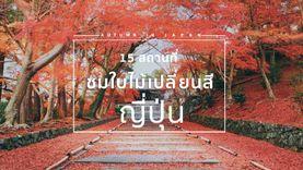 15 สถานที่ชม ใบไม้เปลี่ยนสี สุดฮิตที่ญี่ปุ่น