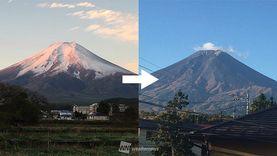 ตะเตือนไต! ภูเขาฟูจิ หัวโล้นในพริบตา โดนไต้ฝุ่นซัดหิมะหายเกลี้ยง