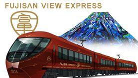 นั่งรถไฟเที่ยว ญี่ปุ่น ระดับ 5 ดาว หรูที่สุด ชมภูเขาฟูจิแบบเต็มตา สาย Fujisan View Express