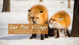 หมู่บ้านสุนัขจิ้งจอกซาโอะ Zao Fox Village ญี่ปุ่น เที่ยวหน้าหนาวสุดฟิน ท่ามกลางหิมะตก