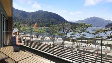 พาชม Starbucks สองสาขาใหม่ในญี่ปุ่น นั่งจิบกาแฟ ชมเสาโทริอิกลางน้ำ