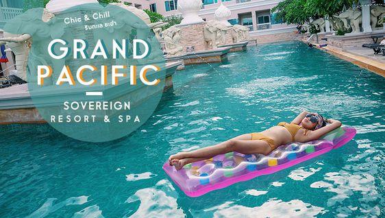 Chic & Chill ริมทะเล ชะอำ Grand Pacific Sovereign Resort & Spa เที่ยวทะเล ใกล้กรุงเทพ (มีคลิป)