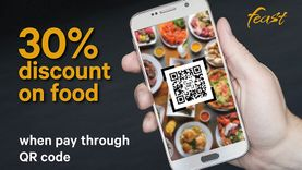 ห้องอาหาร ฟีสท์  เอาใจคนรักบุฟเฟ่ต์ จ่ายผ่าน QR Code รับส่วนลดถึง 30%