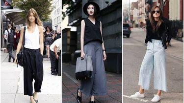 รวมไอเดียมิกซ์แอนด์แมทช์กางเกงทรง Culottes ให้สวยฮอต สวยป็อป มีสไตล์!