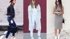 รวมไอเดียใส่รองเท้าผ้าใบ คอนเวิร์สสีขาว สวยเซอร์เท่ คู่เดียวจบ!