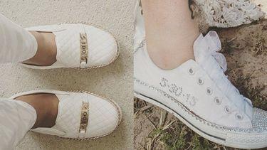 15 ไอเดียรองเท้าผ้าใบแต่งงานแบบฉบับสาวชมพู่ สวยเท่ห์คู่เดียวครบ!