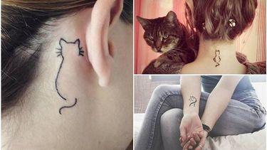 รวมไอเดียรอยสักน้องแมว น่ารักแนวๆ สไตล์มินิมอล (Minimal)