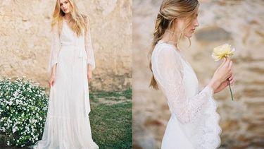 12 ไอเดียชุดเจ้าสาวสีขาวแขนยาว สวย หรู ดูดีได้แบบไม่ต้องโชว์