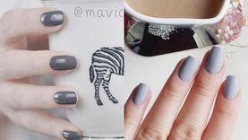 รวมไอเดียทาเล็บสีเทา ให้นิ้วขาว มือผ่อง สวยหรูแบบไม่ต้องตกแต่งเยอะ!