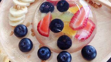 สูตรเค้กหยดน้ำผลไม้สไตล์ญี่ปุ่น  น่ารักใสๆ อร่อยง่ายแบบคลีนๆ (มีคลิป)