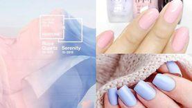 รวมไอเดียทาเล็บสีชมพู Rose Quartz และฟ้า Serenity สีแห่งปี 2016 สวยฟรุ้งฟริ้ง รับปีใหม่