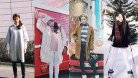 ไอเดียแต่งตัวเที่ยวญี่ปุ่น เกาหลี ฮ่องกง หน้าหนาวแบบมือโปร ฉบับ 9 ดาราเซเลบสาวหน้าใส!