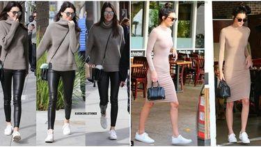 รวมลุค แฟชั่นรองเท้าผ้าใบ ของทีนควีนตัวแม่ Kendall Jenner