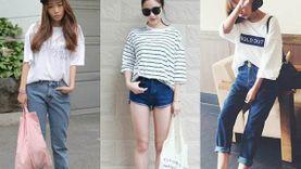 รวมไอเดียแต่ง เสื้อยืดโคร่ง + กางเกงยีนส์ Basic Outfit ง่ายๆ แต่สวยมีสไตล์!