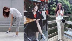 พักส้นสูงแป๊ป! รวมลุครองเท้าผ้าใบฉบับ 10 นักแสดงสาว สงครามนางงาม ซีซั่น 2