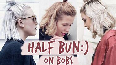 รวมไอเดียทำผม Half Bun ฉบับสาวผมสั้น สวยมั่นได้ง่ายๆ ไม่เสียเวลา!