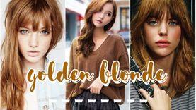 รวมไอเดีย สีผมบลอนด์ทองเข้ม Golden Blonde สวยชัวร์ ไม่ต้องกลัวสีหลุด!