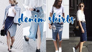 4 ไอเดียแมทช์ กระโปรงยีนส์ Denim Skirts ให้สวย มีสไตล์ จะเท่ก็ได้ จะเปรี้ยวก็ดี!