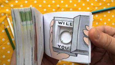 น่ารักสุดใจ กับ 5 ไอเดียขอแต่งงานด้วย Flipbook