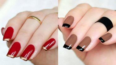 Two tone french nails! วิธีทำพร้อมไอเดียแต่งเล็บ 2 สี เล็บสวยดูดี มีลูกเล่น ทำตามง่าย!