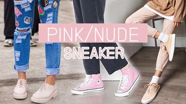 20 แฟชั่น รองเท้าผ้าใบ สีชมพู/นู้ด สวยสะดุด น่ารักปนเท่!