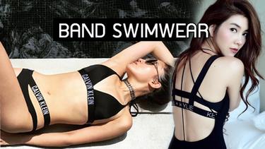 เท่แถมเซ็กซี่! แฟชั่น Band Swimwear ชุดว่ายน้ำมีขอบ สไตล์สปอร์ต แบบเหล่าดาราเซเลบ