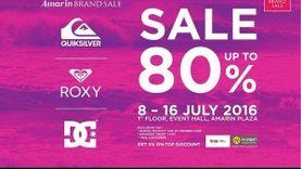 เตรียมช้อปกระหน่ำ กับ Amarin Brand Sale: Quiksilver Roxy & DC ลดสูงสุดถึง 80% !