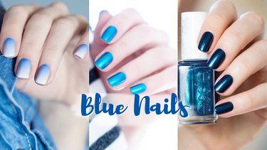 รวมไอเดีย ทาเล็บ โทนสีฟ้า สีน้ำเงิน Blue Nails ให้สวยวิ้งค์ ปิ๊ง น่ามอง!