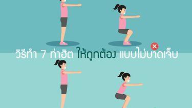 ทำผิดมาตั้งนาน! วิธีออกกำลังกายที่ถูกต้อง 7 ท่าฮิต หุ่นฟิตแบบไม่บาดเจ็บ ไม่ปวดเนื้อปวดตัว!
