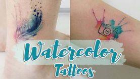 Watercolor Tattoos สไตล์การสักแนวใหม่ เหมือนหยิบภาพสีน้ำมาระบายบนตัวคุณ