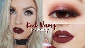 20 ไอเดียแต่งหน้า Red Vamp Makeup แต่งตาและปากโทนแดงเข้ม สวยหรู ดูเปรี้ยว!
