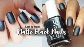 Matte Black! ไอเดีย ทาเล็บ สีดำแมตต์ ดูดีแบบเรียบง่าย แพงได้แบบไม่เยอะ!