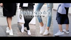ไอเดียแมทช์ รองเท้าผ้าใบสีขาว ให้ได้ลุค Street Style สุดคูล!